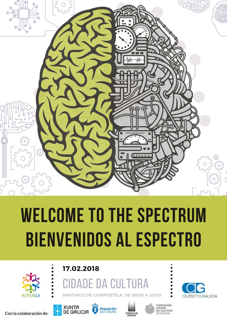 Welcome to the spectrum cartel logos centrados y a los lados